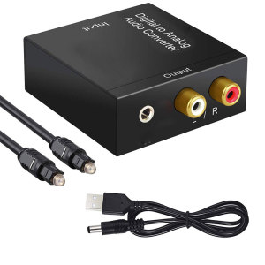 Optical Digital Stereo Audio SPDIF Toslink Coaxial Signal To Analog Converter DAC Jack 2*RCA Amplifier Decoder Adapter(China)