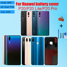 Back Battery Cover Door For Huawei P20 P20 lite P20 Pro With repair parts For P20 P20 lite P20 Pro Housing Rear Replacement cheap Glass P20 P20 lite P20 Pro
