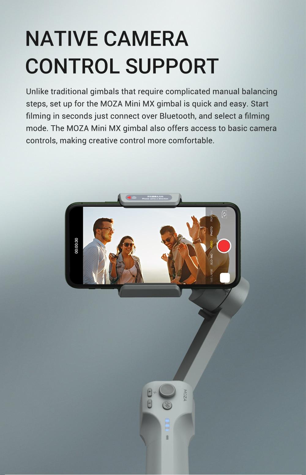 MOZA Mini MX Gimbal Handheld Stabilizer 8