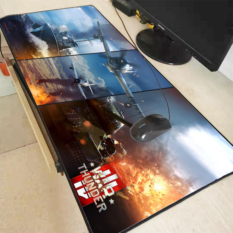 Mairuige War Thunder Laptop Gaming Mice Waterproof Mousepad Size For 40x90CM Speed Version Gaming Mousepads With Locking Edge