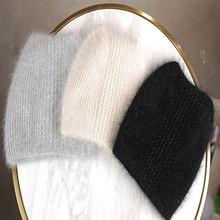 Женская хлопковая зимняя шапка женская теплая из кроличьего