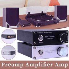 SUCA Phono MM preamplificador LP vinilo grabador para Audio en Casa fonógrafo preamplificador tocadiscos amplificador de sonido Amp + fuente de alimentación