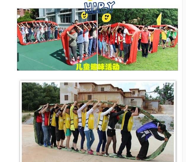 Intégration sensorielle 6m 4-6 personnes bande roulante pour la maternelle jouant au jeu amusant Sport réunion développement expérientiel en plein air