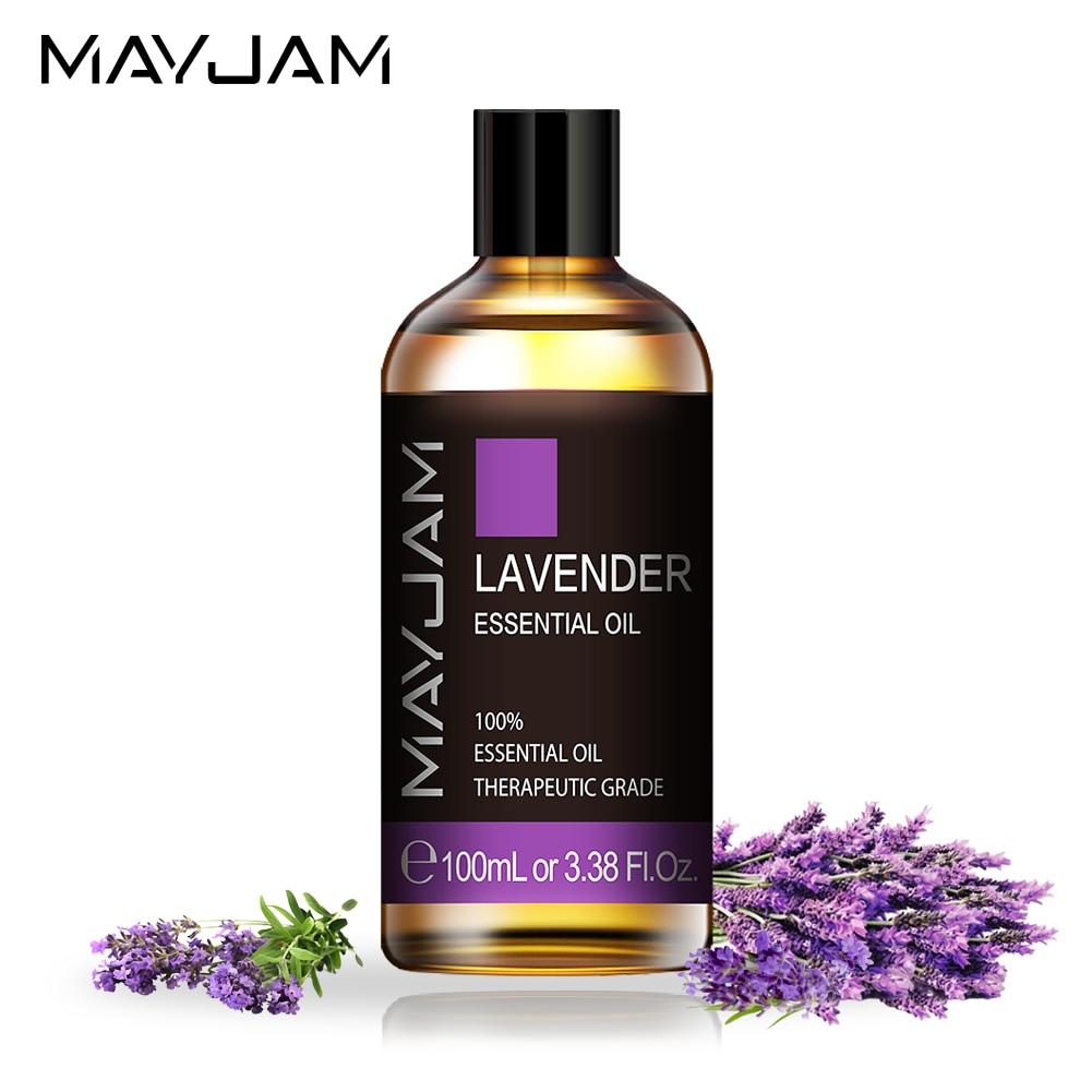 Эфирное масло лаванды MAYJAM 100 мл, чистые натуральные растительные эфирные масла, розовое сандаловое дерево, герани, оливковое масло для ухода...