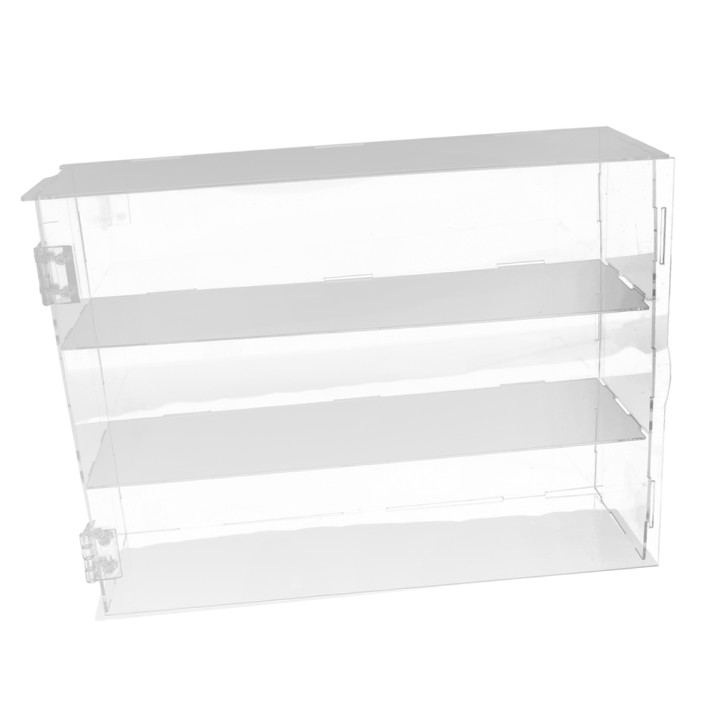 Action Figure Display Case Dustproof Showcase Box For Hot Toys, 1/6 Scale Figures Collectibles For Cabinet Countertops Table