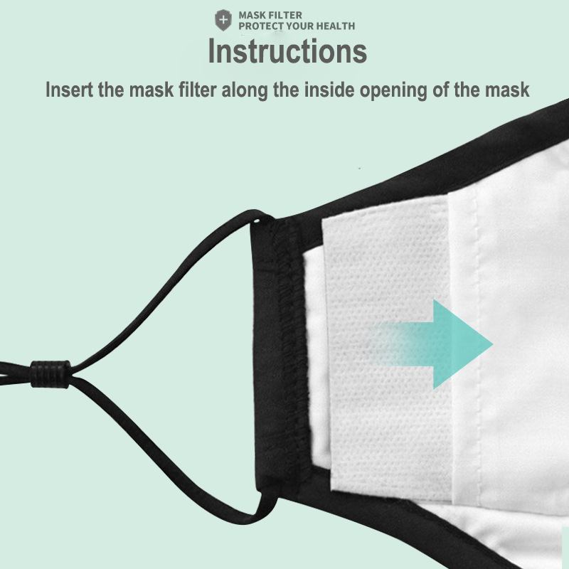 PM2.5 Mask Filter For Adults Kids 5-Layer Filtration 100/50/30/20/10PCS Face Masks Activated Carbon Filter 3