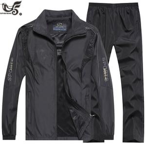 Image 3 - ブランドトラックスーツメンズスポーツウェアのスウェットシャツ + パンツ 2 本の衣類のセットoutweartrainingコーストラックスーツジョギングスポーツスーツ男性