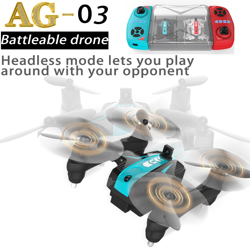 2in1 Mini Infrared Battle Drone With Hd Camera 720P FPV WIFI Quadcopter Foldable Rc Toy For Kids Altitude Hold Includes 2 Drones