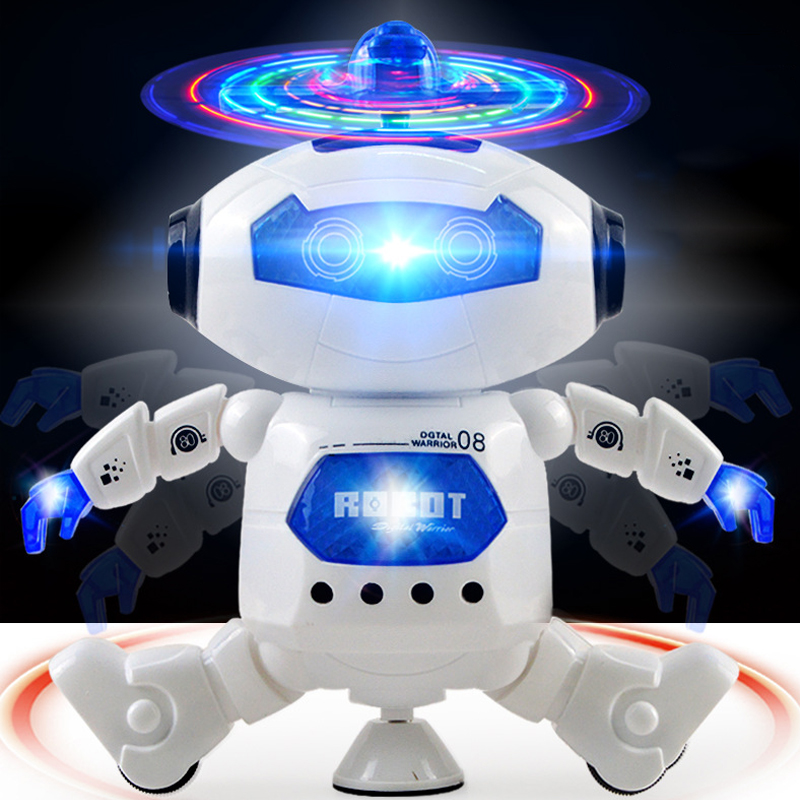Smart Robot Toy 360 Rotating Dancing Singing Robot Led Light Music Mini Robot juguete Electronic Educational Toys for Children