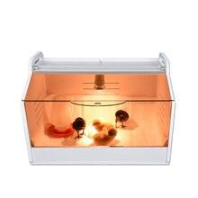 Newst incubadora de frango brooder tamanho pequeno codorna incubadoras de aves fazenda crawl pet ouriço tartaruga morna caixa de reprodução acessórios