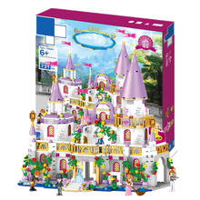 Compatible Friends Heartlake City Princess Windsor Castle Set Educational DIY Model Building Block Bricks Toy for kids bela 10562 friends series heartlake riding club model building block bricks toy for children compatible with legoe friends 41126