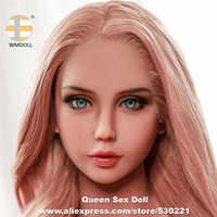 WMDOLL de alta calidad de silicona realista amor muñeca cabeza Oral Sexy juguete herramientas sexuales para hombres TPE cabezas de muñecas sexuales