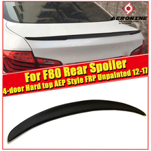 For BMW F80 M3 Spoiler Tail Wing FRP Unpainted AEP Style Black 3-Series 325i 328i 330i 4-Door Hard Top 2012-2017