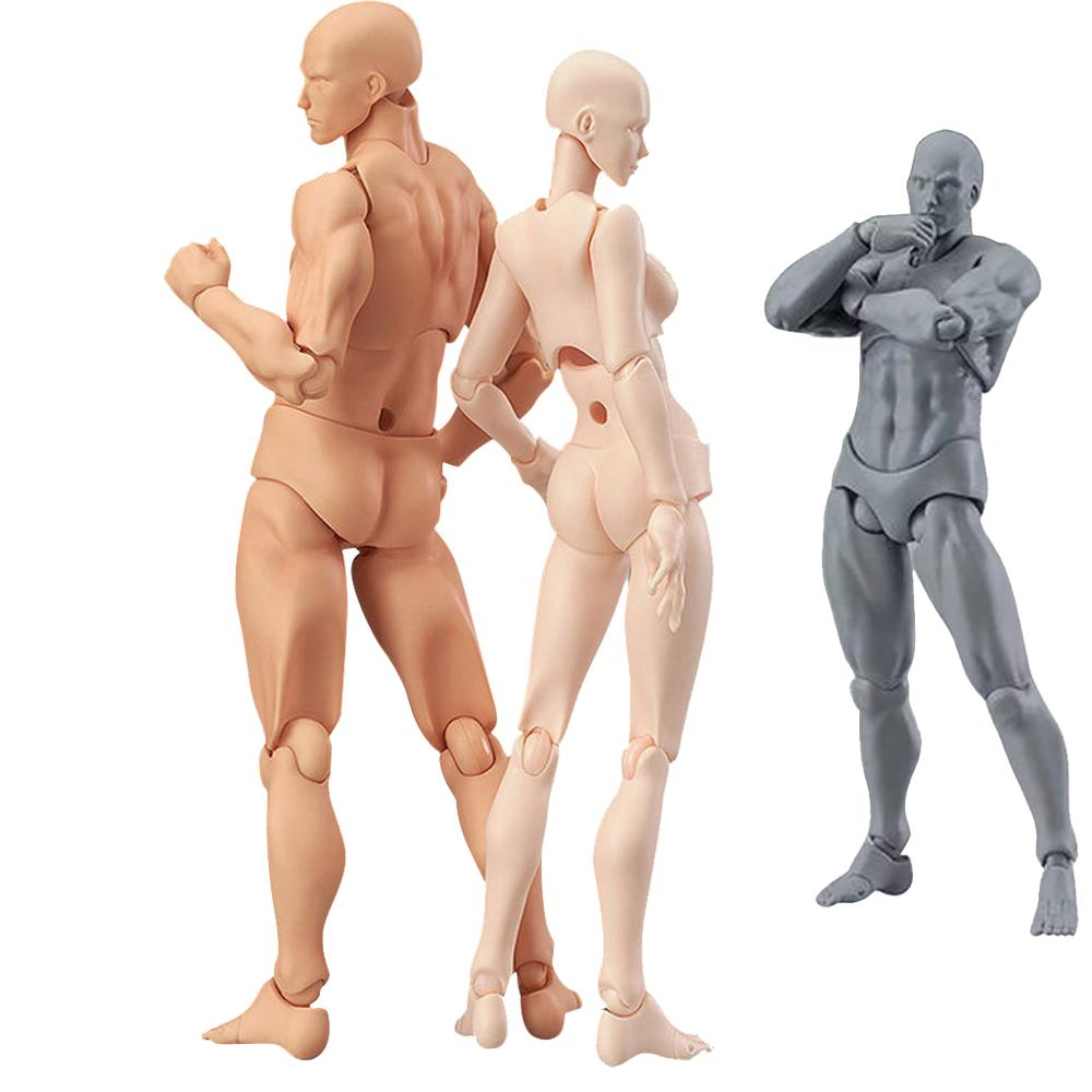 1 Set Drawing Figures For Artists Action Figure Model Human Mannequin Man And Woman Set Action Figure Toys Draw Figures Figurine