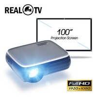 Real TV M8S Full HD 1080P Proyector 4K 6500 lúmenes cine Proyector Beamer Android WiFi Bluetooth hdmi USB VGA AV