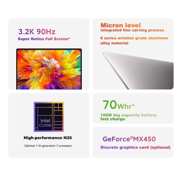 New Original Xiaomi Redmibook Pro 15 Notebooks Intel Core i7-11390H/i5-11320H Laptop 15.6 Inch MX450 Windows 10 Computer 16GB 4
