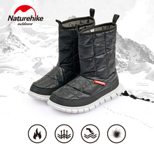 Naturehike 2019 New Outdoor High-heeled Warm Down Shoes 95% White Goose 700FP Down High Tube Shoes 5℃~-5℃  Outdoor Snow Boots