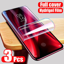 Znp 3 pçs capa completa protetor de tela para xiaomi redmi nota 8 7 5 9 pro max 9s 8t filme de hidrogel para redmi 9 8 8a 7 7a filme macio