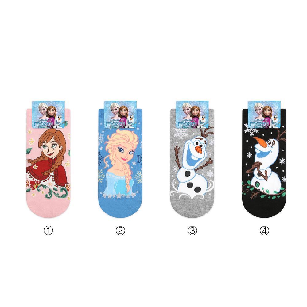 Disney Cartoon Frozen Aisha Anna Women's Cotton Socks Cute Princess Yeti Low Socks Breathable Sweat Warm