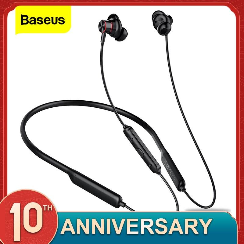 Baseus S12 Neckband Bluetooth Earphone Headphone For Phone Bluetooth 5.0 Wireless Earphones Bass Headset With Mic fone de ouvido|Bluetooth Earphones & Headphones| |  - AliExpress