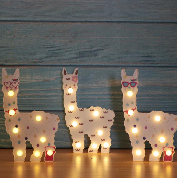 LED Creative New Alpaca Nightlight Children's Room Bedroom Decoration Night Light