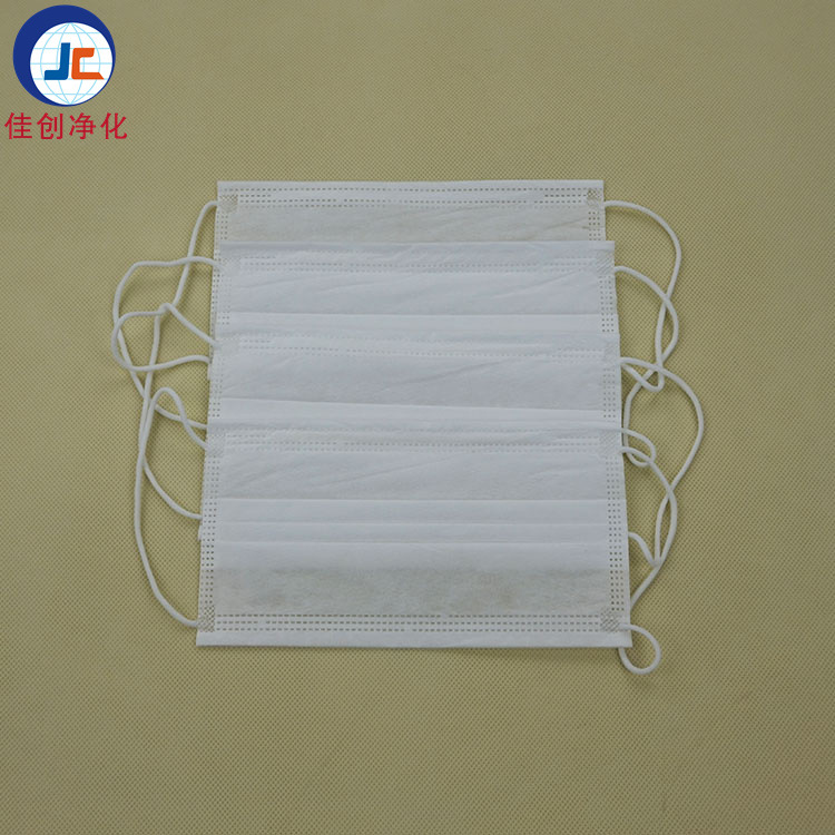 Manufacturers Wholesale Disposable Double Layer Dust-free Es Face Mask Clean Room Thick Matte Cloth White Face Mask