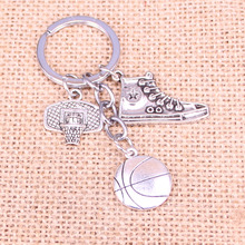 20Pcs NBA basketball player basketball shoe key chain Bag Purse Car Keychain Jewelry Gift cheap PK FOUR Zinc Alloy Unisex Metal Antique Silver Plated Animal Classic All Compatible
