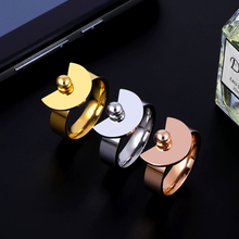 Classic Gold Silver Sector Brand Charm Rings Women Wedding Party Jewelry Stainless Steel OL Fashion