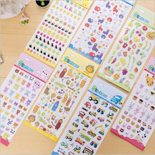 1pcs/lot Cartoon 3D Korean bubble Memo Stickers  Kawaii Planner Scrapbooking Stationery Escolar School Supplies
