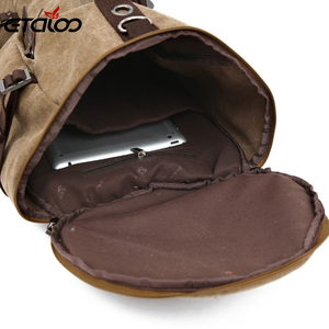 Image 3 - Large Capacity Man Travel Bag Mountaineering Backpack Men Bags Canvas Bucket Shoulder Backpack 012
