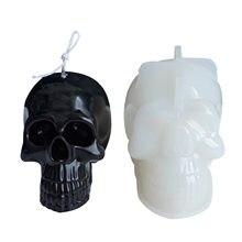 Molde durável em forma de crânio do molde do silicone da vela para presentes molde da vela do crânio que faz artesanato modelo