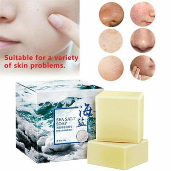 Sea Salt Soap To Remove Pimple Acne Treatment Oil And Acne Skin Essence Bath Soap Goat Milk Whitening Soap Skin Care Health Soap rose soap 100% natural handmade 120g hair skin beauty whitening moisturizing cleaner antibacterial acne treatment
