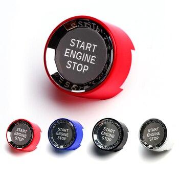 Parada de arranque de motor de coche interruptor de botón pegatinas cristal recorte cubierta para BMW E90 E92 E93 E84 F30 F20 F10 F25 F15 F16 X1 X3 X4 X5
