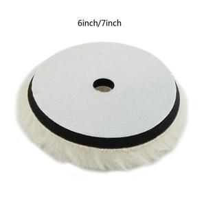 "Image 4 - 1pc 6""/7"" Wool Polishing Pad For Polisher Machine Waxing Polishing Buffing Car Paint Care Polisher Pads For Car Polisher Car Bea"