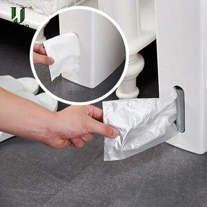Image 3 - UNTIOR Multi function Trash Can Plastic Waste Bin with Toilet Brush Garbage Bucket Dustbin Kitchen Bathroom Cleaning Trash Bin