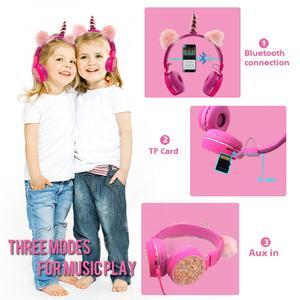 Image 5 - Auriculares inalámbricos con Bluetooth para niños y niñas, auriculares estéreo plegables con dibujos animados, para música