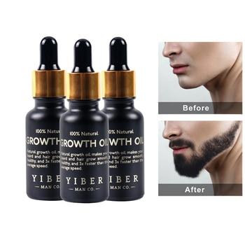 Men Beard Growth  Oil Kit Soften Hair Growth Nourishing Enhancer Beard Wax Balm Moustache Oil Leave-In Conditioner Beard Care 1