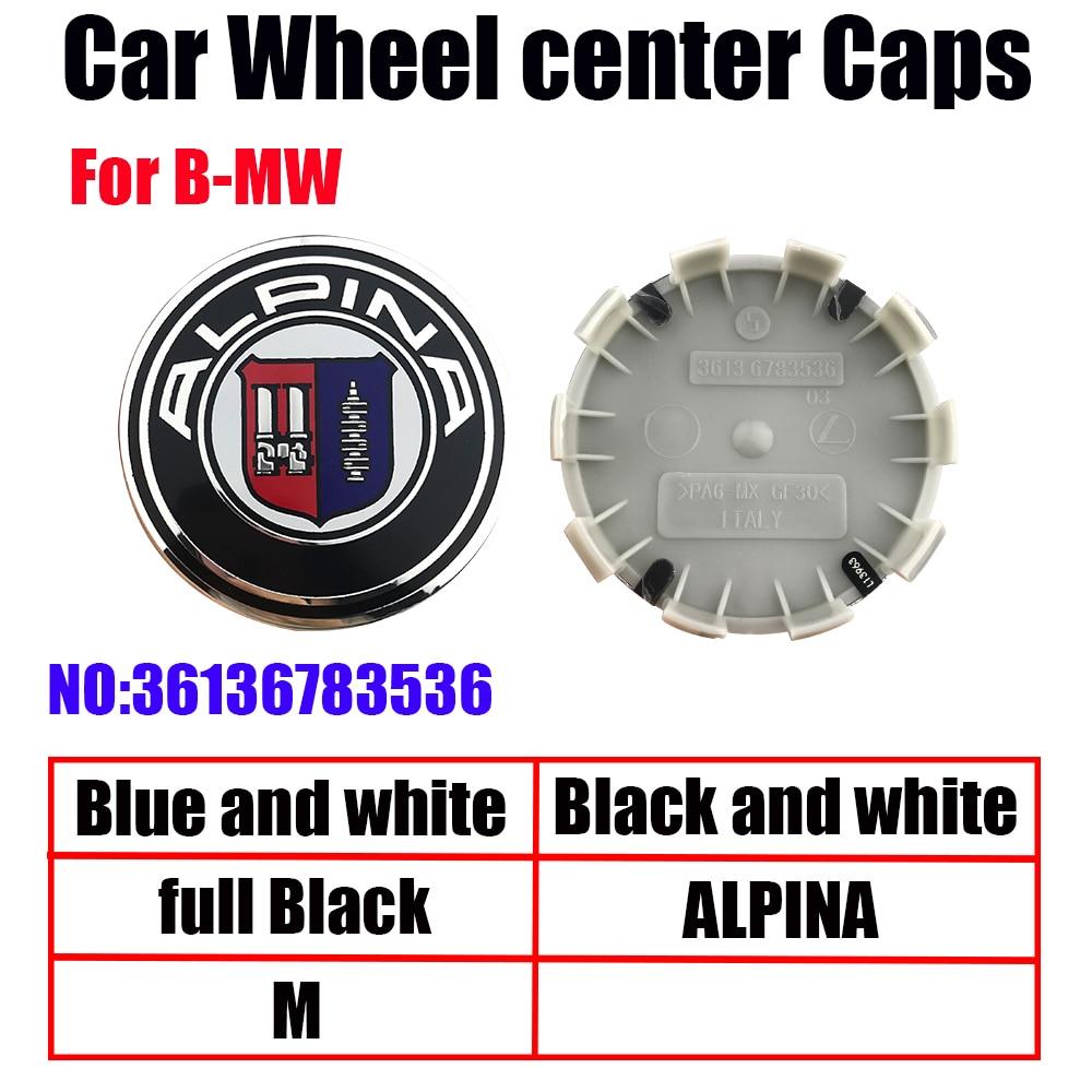 4pcs 68mm 56mm white blue10 pin Car Wheel Center Hub caps Rim Caps Covers Emblem Badge for BMW 1 3 5 7 X3 X5 M3 M5 36136783536