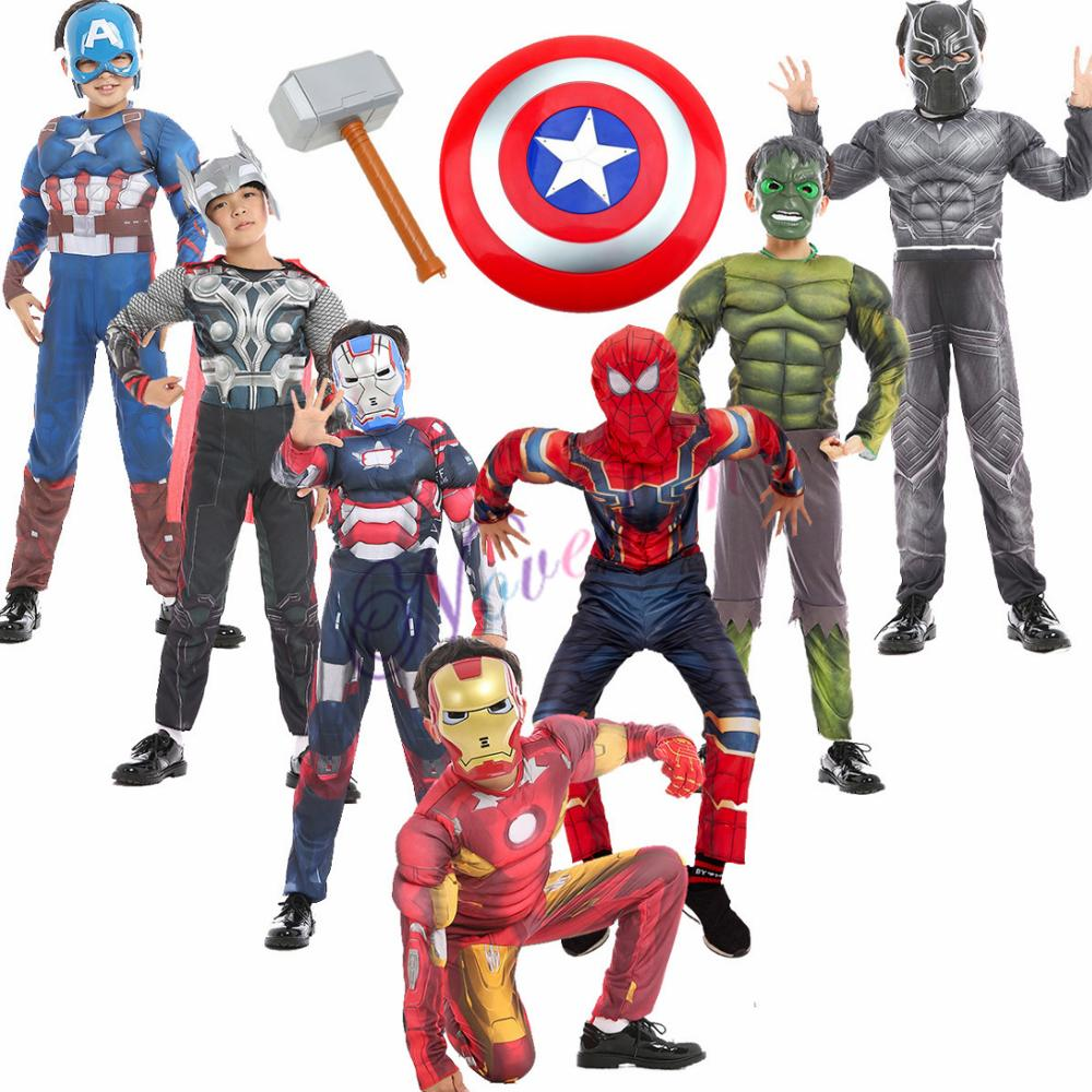 Kids Cosplay Costume Boy Muscle Costume Suit Man Child
