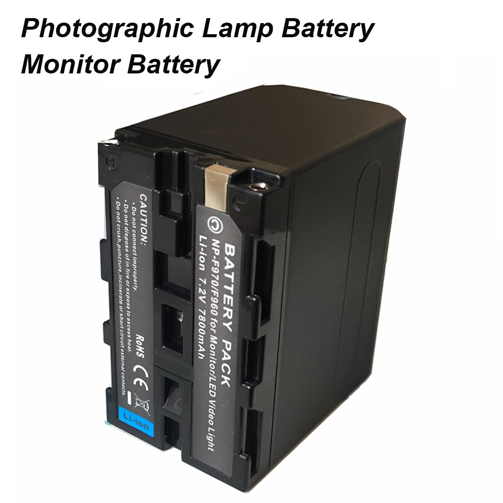 7800mAh NP-F970 NPF-960 Photographic Lamp Battery For NP F970 F960 LED Video Monitor Battery Photography Light Battery