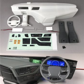 Cabin center console with LED instrument for 1:14 Scale Remote Control Tamiya Volvo FH12 FH16 Globetrotter 750 56360