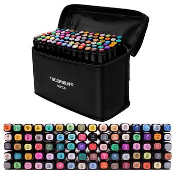 touchnew 40 60 80 168 colors graphic marker pens set sketch manga art student markers white pen TOUCHFIVE Markers Pen 36 60 80 168 Colors Art Sketch Twin Marker Pens Broad Fine Point Graphic Manga Anime Markers