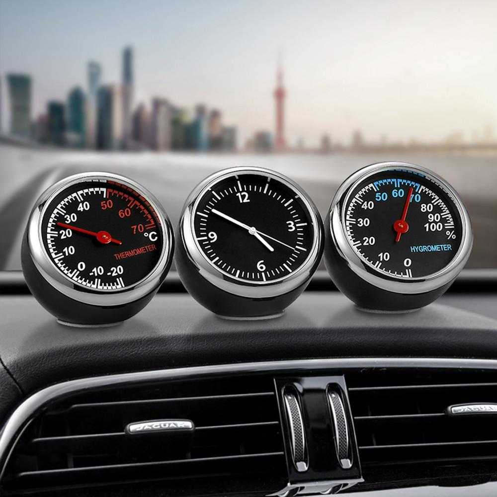 Mini Car Automobile Digital Clock Auto Watch Automotive Thermometer Hygrometer Decoration Ornament In Accessories