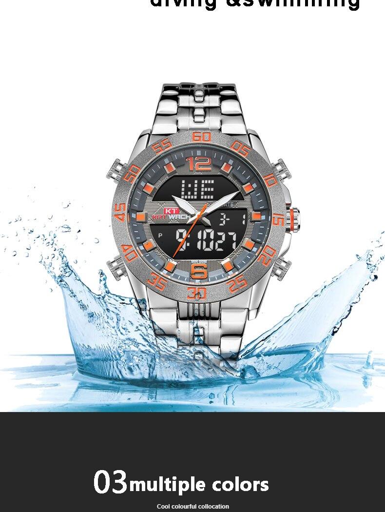 moda esporte relógio de pulso 50 m