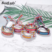 Best lady Bohemian Handmade Anklet for Women Party Trendy Summer Beach Weaving Girl Special Gift Multicoloured Statement Anklet(China)