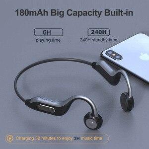 Image 5 - B1 sem fio bluetooth fone de ouvido 5.0 condução óssea fones esporte ao ar livre fone com microfone handsfree 8g memória