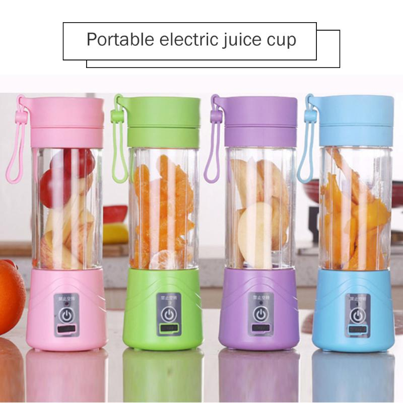 380ml 6 Blades Electric Blender Mixer Classic Colors And Simple Durable Design Baby Kids Feeding Vegetable Fruit Juicer