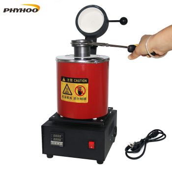 2KG Gold Melting Furnace 1100℃ Digital Melting Furnace Machine Heating Capacity 1400W Casting Gold Silver Jewelry tools 220v 2kg gold copper silver aluminum iron steel mini goldsmith melting furnace mini gold melting furnace gold melting stove joy