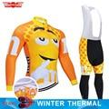 2019 lustige Winter Radfahren Kleidung Hosen Set Gelb Fahrrad Kleidung Herren Ropa Ciclismo Thermische Fleece Fahrrad Jacke Radfahren Tragen