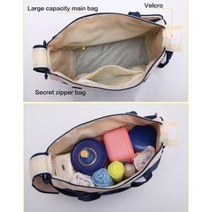 Image 5 - 5 pcs/set Baby Care Diaper Bag Mummy Stroller Handbag Set Maternity Nursery Organizer Hobos Nappy Changing Mat Bottle Holder